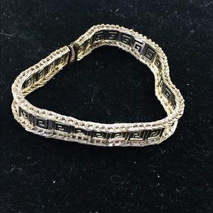 Vintage Aztec style sterling silver bracelet!